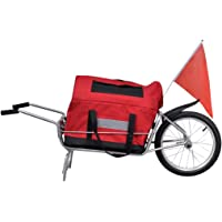 Gecheer Bike Trailer Baby 2 in 1 Stroller Kids Seat Cycling Hitch Red
