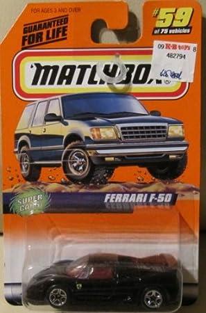 Matchbox Ferrari F 50 Black Import From America Amazon De Spielzeug