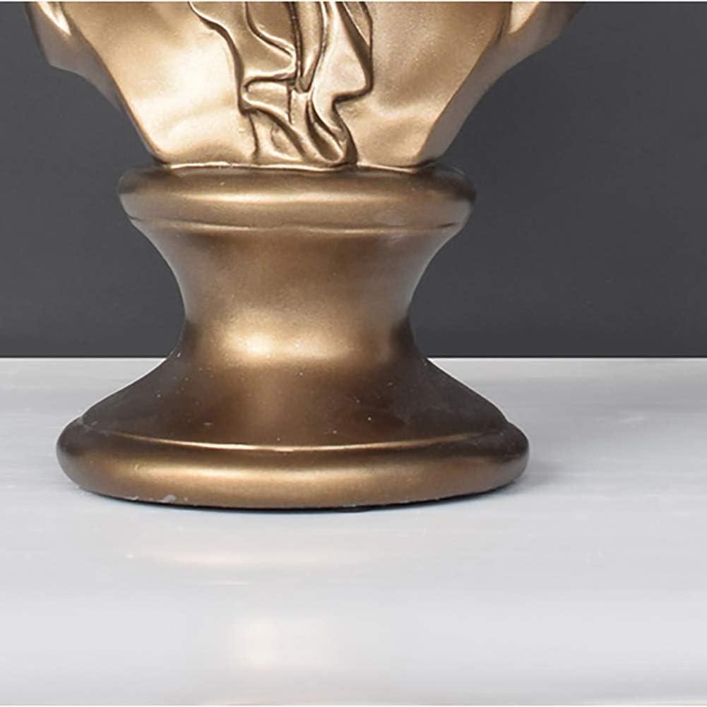 Wghz Ornamenti Desktop per la casa per Le Persone a Cui Piace la Musica Statuette da Collezione greche Classiche A Statue di Teste in Resina sculture di Busti di Beethoven