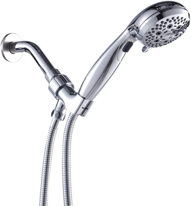 Lordear Handheld Shower with Hose High Pressure 6 Setting Water Flexible Removable Rain Message Detachable Handheld Shower Head Set with Holder