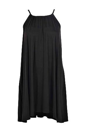9065a36e4d34 Amazon.com: Boohoo Womens Callie Tie Neck Swing Dress: Clothing