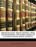 Proverb Lore, Frederick Edward Hulme, 1146157983