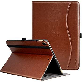 IPad Pro 10.5 Inch 2017 Case, Ztotop Premium Leather Business Slim Folding Stand Folio Cover for New Apple Tablet with Auto Wake / Sleep and Document Card Slots, Multiple Viewing Angles,Brown