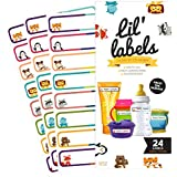 Bottle Labels, Write-On, Self-Laminating, Daycare Waterproof Labels, plus 2 Bonus Gifts