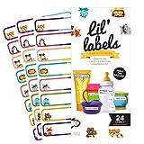 Lil 'Etiketten Baby Flasche Etiketten-Kita Etiketten, beschriftbar und waschbar, selbstdichtend/selbstlaminierend, Kinder Etiketten
