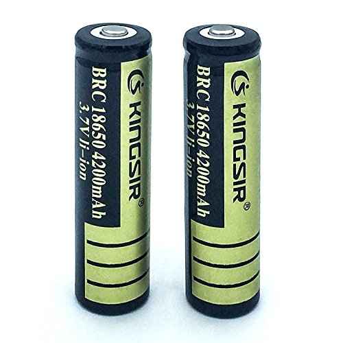 18650 battery 3.7V Rechargeable batteries Li-ion Battery 4200mAh(Pack of 2)
