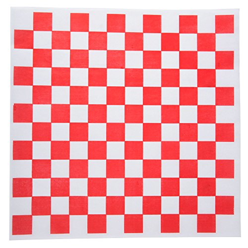 Checkered Wax Paper Sheet Squares, 12