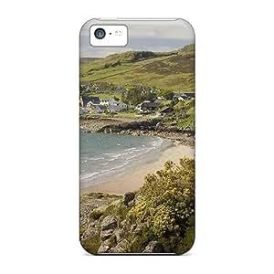 TinnySunshine CjSxX3848HpLed Protective Case For Iphone 5c(wonderful Scottish Seaside Village)