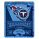 "NFL Tennessee Titans Marque Printed Fleece Throw, 50"" x 60"", Blue"
