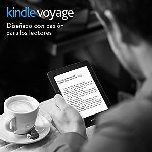 Kindle Voyage, pantalla E-ink con la más alta resolución y contraste, luz autorregulable, función Paso de Página reinventada, Wi-Fi