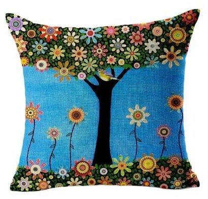 tia-ve oficina en casa sofá funda de almohada cojín carcasa mariposa niña, algodón, lino, azul oscuro, same