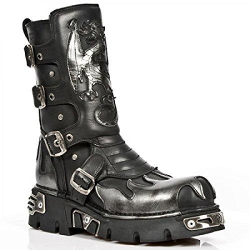 New Rock Boots M.600-c10 Gotico Hardrock Punk Unisex Stiefel Schwarz