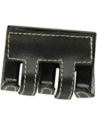 Caravan Genuine Leather And Sewn Stitching Decorates This Traditional Hair Claw