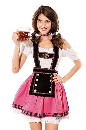 Moonight Womens Babe Beer Girl Bavarian Bar Maid Costume Size M (Bavarian Outfit)