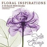 Floral Inspirations 2018 12 x 12 Inch Monthly Square Wall Calendar by Hopper Studios, Flower Art Artwork Design