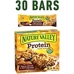 Nature Valley Chewy Granola Bar, Protein, Peanut, Almond and Dark Chocolate, 5 Bars - 1.4 oz (Pack of 6)