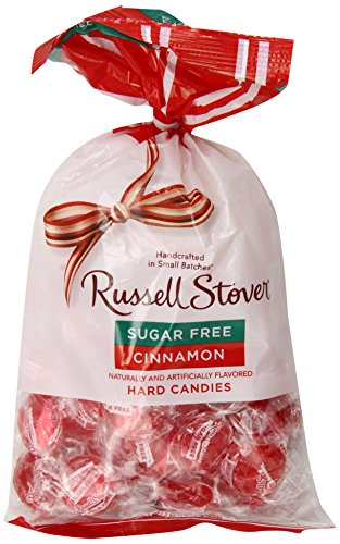 Cinnamon Candy Candy Buttons - Russell Stover Sugar Free Cinnamon Buttons Hard Candies, 12-Ounce Bags (Pack of 3)