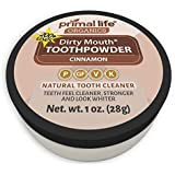 Dirty Mouth Organic Toothpowder #1 BEST RATED All Natural Dental Cleanser- Gently Polishes, Cleans, Re-Mineralizes, Strengthens Teeth - Cinnamon (1 oz = 3mo Supply) - Primal Life Organics