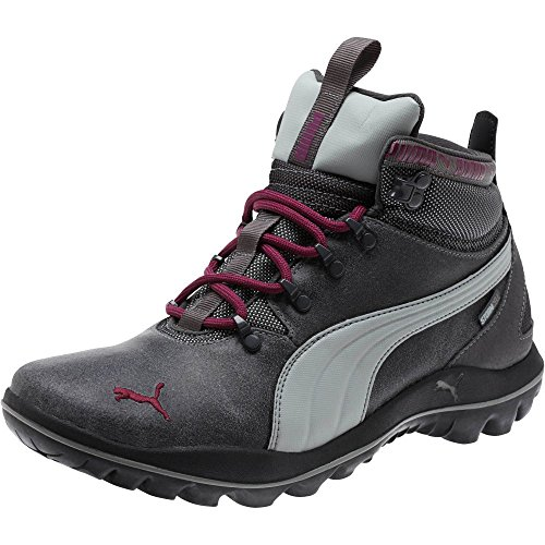 PUMA Women's Silicis Mid L Wn's Asphalt/Quarry/Magenta Purple 9 by PUMA