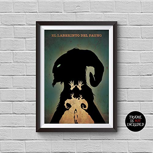 Pan's Labyrinth Minimalist Poster Guillermo del Toro Alternative Movie Print El laberinto del fauno Ofelia and the Faun Pale Man Illustration Home Decor Cinema Artwork Wall Art Hanging Cool - Labyrinth Poster Pans
