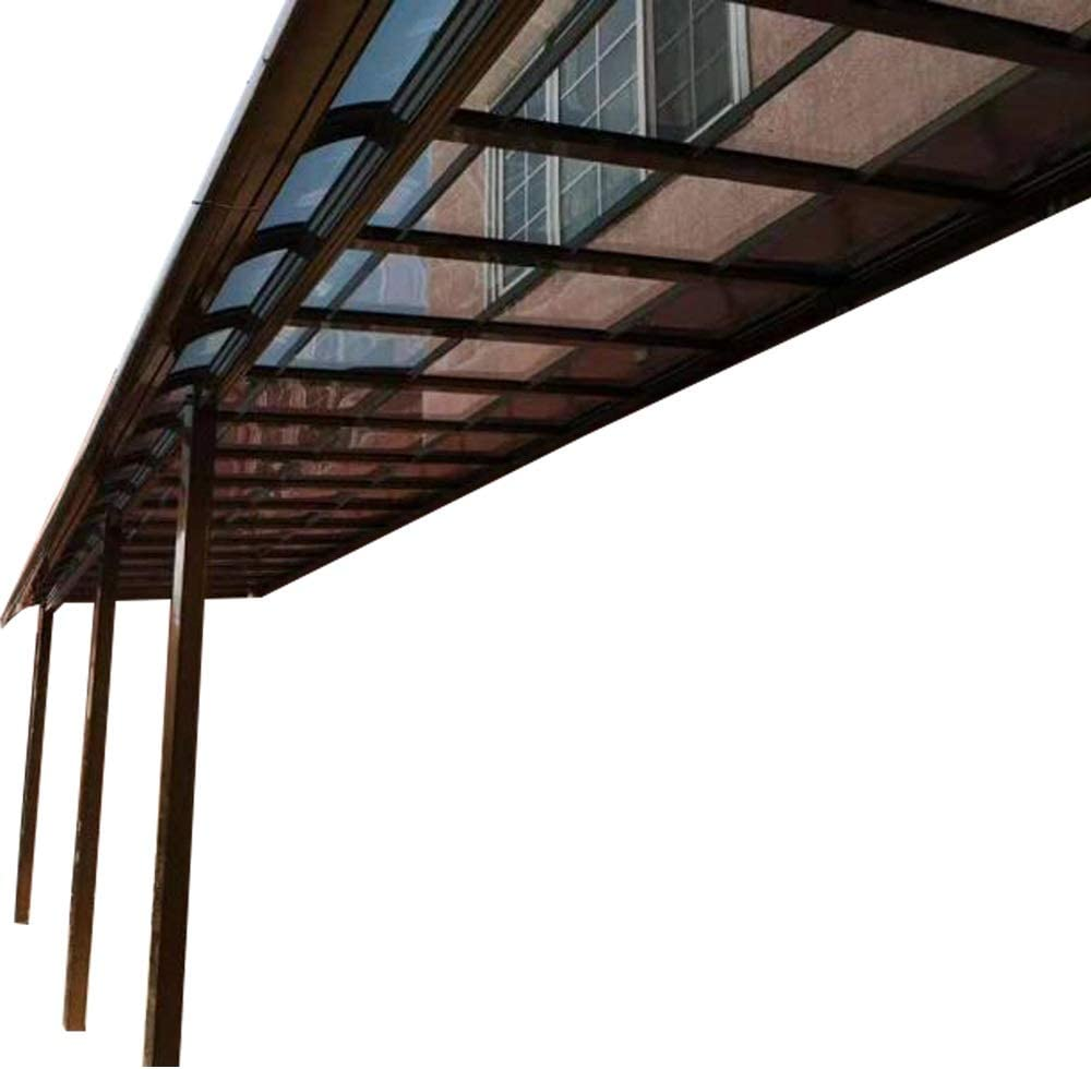 Amazon Com Litesort Metal Patio Covers Window And Door Awning And Also Is Terrace Cover And Balcony Roofing 13 18 Feet Made By Aluminum Frame And Polycarbonate Roofing Garden Outdoor