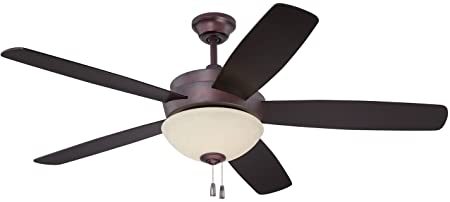Craftmade LY52OB5-WG 52 Ceiling Fan w Blades and Light Kit