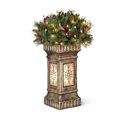 Christmas Topiary - 3' Christmas Topiary with Lighted Base Indoor/Outdoor Christmas Decoration