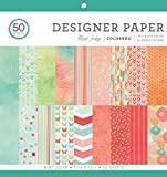 "Arts & Crafts : ColorBok 73490A Designer Paper Pad Mint Julip, 12"" x 12"""