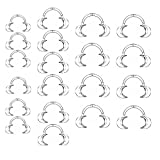 Dental Retractor Intraoral Cheek Lip Mouth Opener Clear C Type, Mouth Guard Party Game, (6 Small, 6 Medium, 8 Large), 20 Pack
