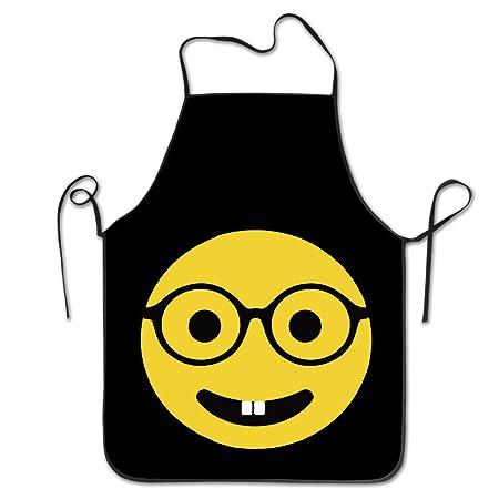 Nerd Emoji Glasses Teeth Emoticon Kitchen Cooking BBQ Apron