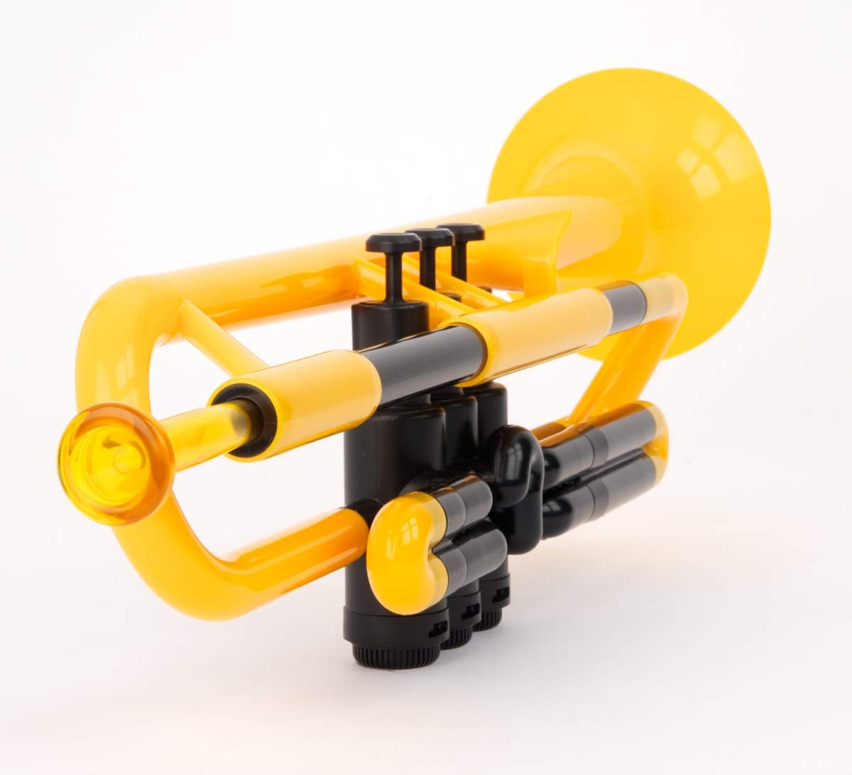 pBone Jiggs pTrumpet Plastic Trumpet w/Gig Bag and 3C and 5C Mouthpieces, Yellow, PTRUMPET1Y) by pBone (Image #4)