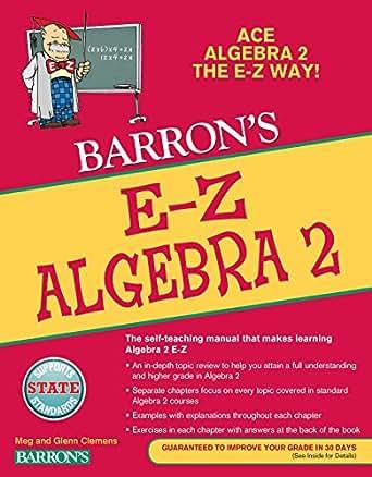 E z algebra 2 barrons e z series margaret b clemens amazon digital list price 1699 fandeluxe Gallery