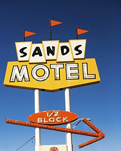 Route 66 Décor Sands Neon Vintage Motel Sign Mid Century Modern Retro Decor