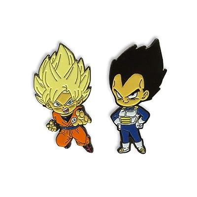 Dragon Ball Super Pins - SS Goku & Vegeta (Set of 2): Toys & Games