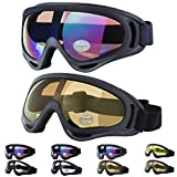 Best Dust Goggles - Outgeek Ski Goggles, 2-Pack Skate Glasses with UV Review