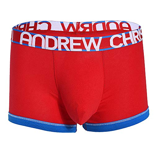- Andrew Christian Sexy Mens Cotton Boxer Brief Underwear, Almost Naked Red