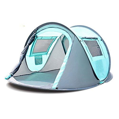 詐欺管理するおとなしいQFFL zhangpeng テント自動スピードオープンキャンプシンプルなフィールド用品無料テントダブルキャンプレインテント2色オプション トンネルテント ( 色 : B )