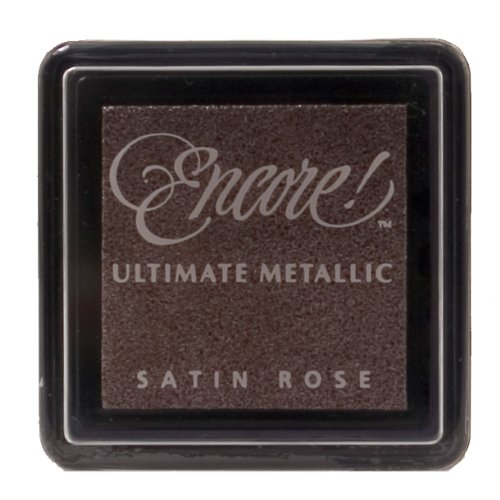 Tsukineko Small Size Encore Ultimate Metallic Pigment Inkpad, Satin Rose