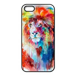 Cool Painting Lion Personalized Cover Case for Iphone 5,5S,customized phone case case541074