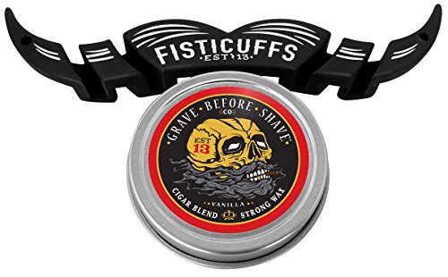 Fisticuffs Cigar Blend Strong Hold Mustache Wax & Moguard combo