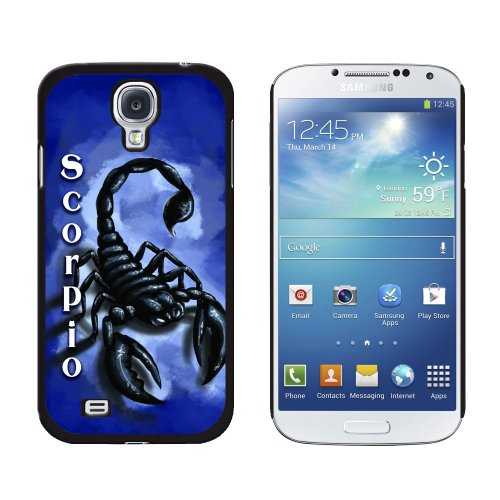 Graphics And More Snap On Hard Protective Case For Samsung Galaxy S4   Scorpio Scorpion Zodiac   Astrological Sign Astrology   Non Retail Packaging   Black