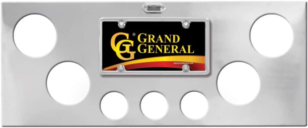 Oval and 2-1//2 inches Holes GG Grand General 91659 Stainless Steel Rear Light Panel with Backing Plate