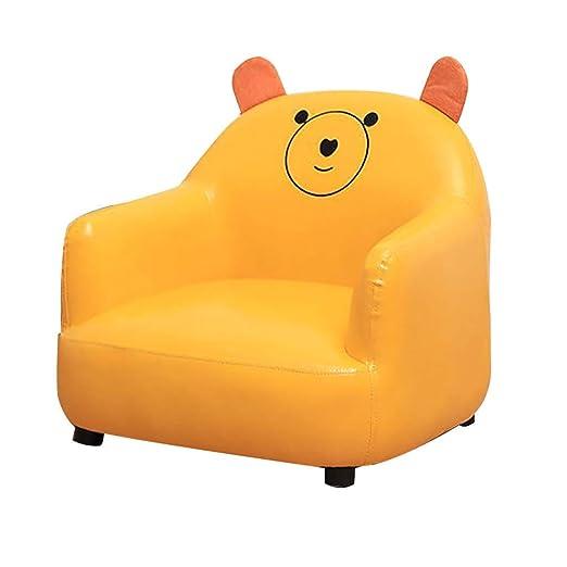 SXFYHXY Pequeño sofá de Cuero para niños Arte de Dibujos ...