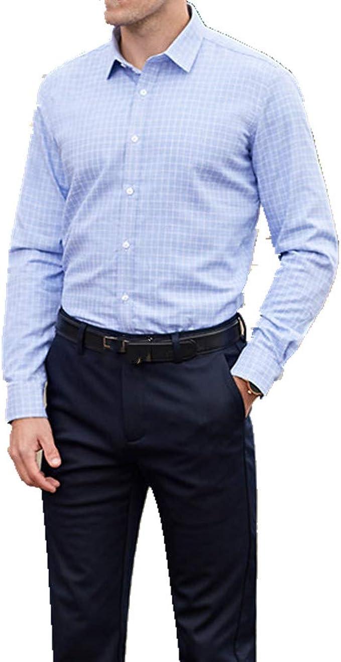 Cálida camisa de los hombres simple cuello cuadrado casual ...