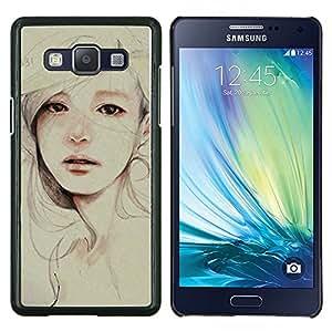 Stuss Case / Funda Carcasa protectora - Pintura triste Depresión Mujer - Samsung Galaxy A5 A5000