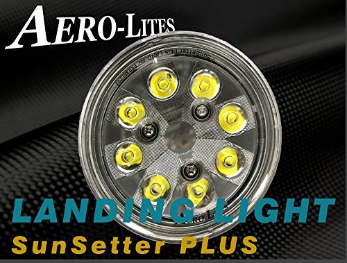 LED Landing Light for Aircraft - Aero-Lites SunSetter + Plus PAR 36 40W 10-30VDC