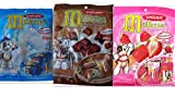 Unican Candy Milkita Variety Bundle, 3.2-Ounce Packages (Pack of 3) includes 1-Bag Chocolate Flavor + 1-Bag Vanilla Flavor + 1-Bag Strawberry Flavor (TOTAL 90 CANDY PIECES)
