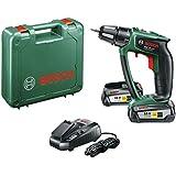 "Bosch Perceuse-visseuse ""Expert"" sans fil PSR 18 LI-2 Ergonomic 2 batteries 18V 2,5 Ah, technologie Syneon 06039B0101"