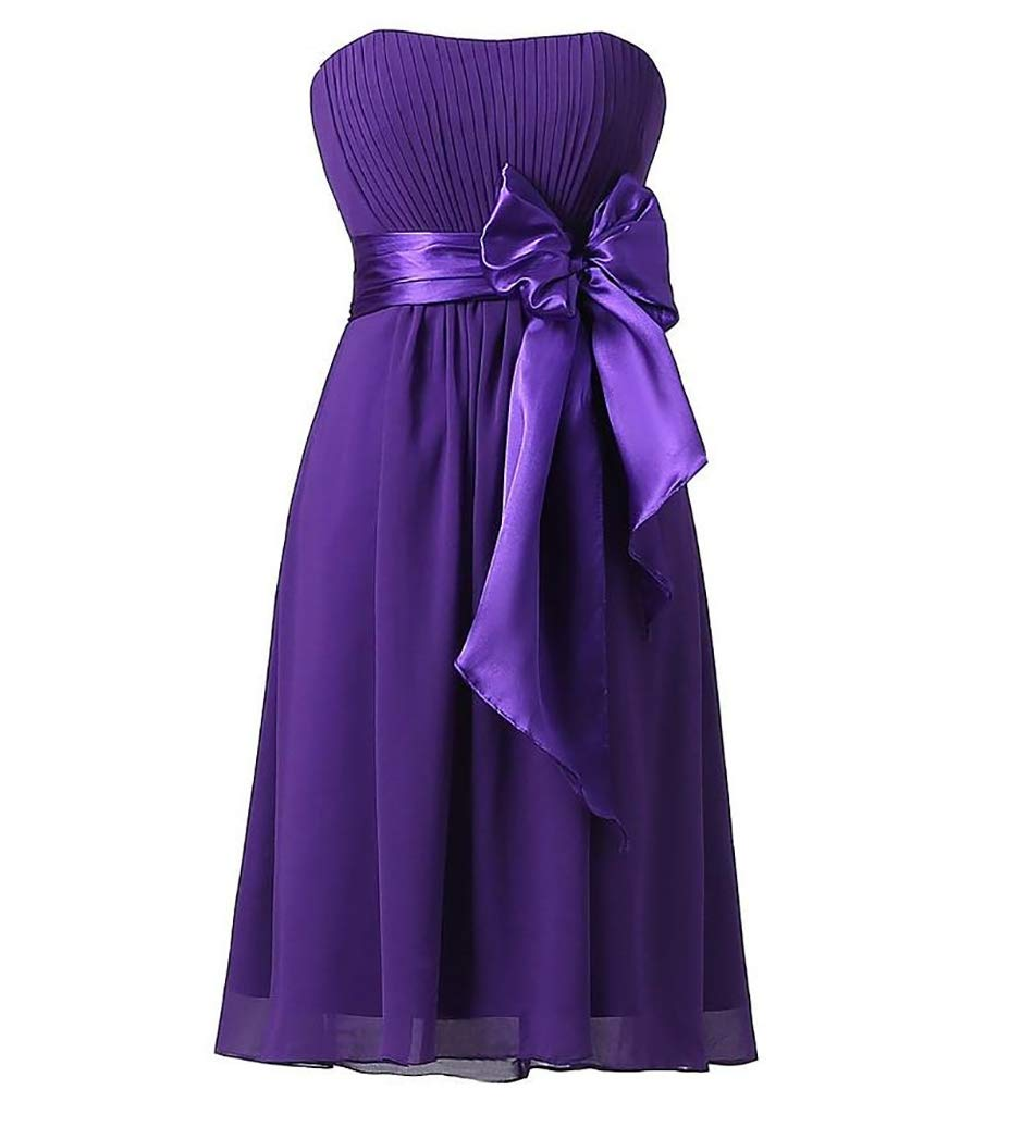 E Tube Top Summer Skirt Bridesmaid Dress Bow Dress