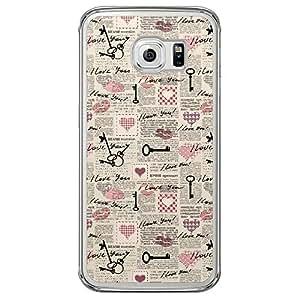 Loud Universe Samsung Galaxy S6 Edge Love Valentine Printing Files Valentine 70 Printed Transparent Edge Case - Multi Color